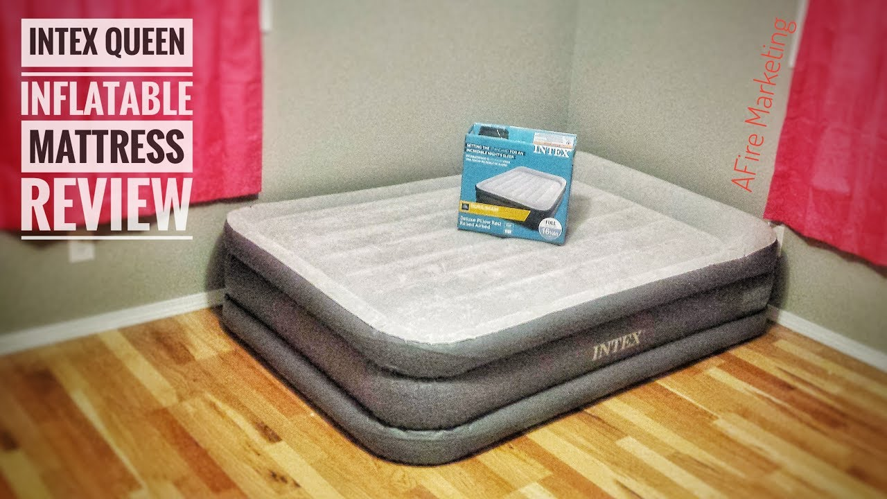 Intex Dura Beam Deluxe Pillow Raised Airbed Review Youtube