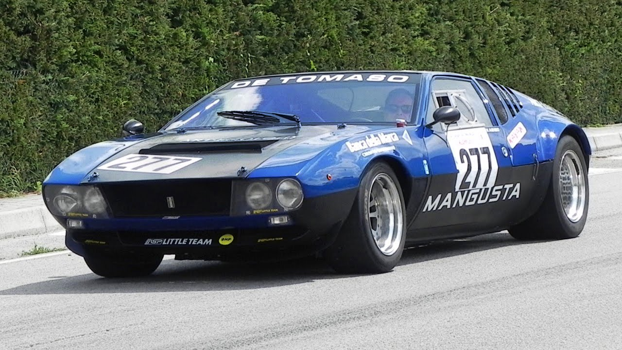 De Tomaso Mangusta Great V8 Sound On Hillclimb - YouTube