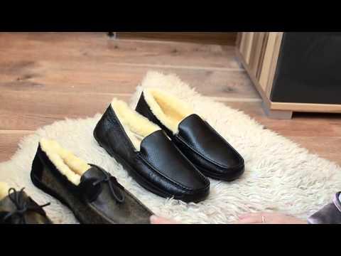 Мужские кожаные мокасины MADOKS рыжие - YouTube