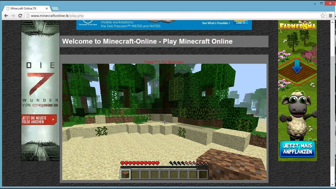 Minecraft Online Im Browser Cracked YouTube - Minecraft online spielen browser
