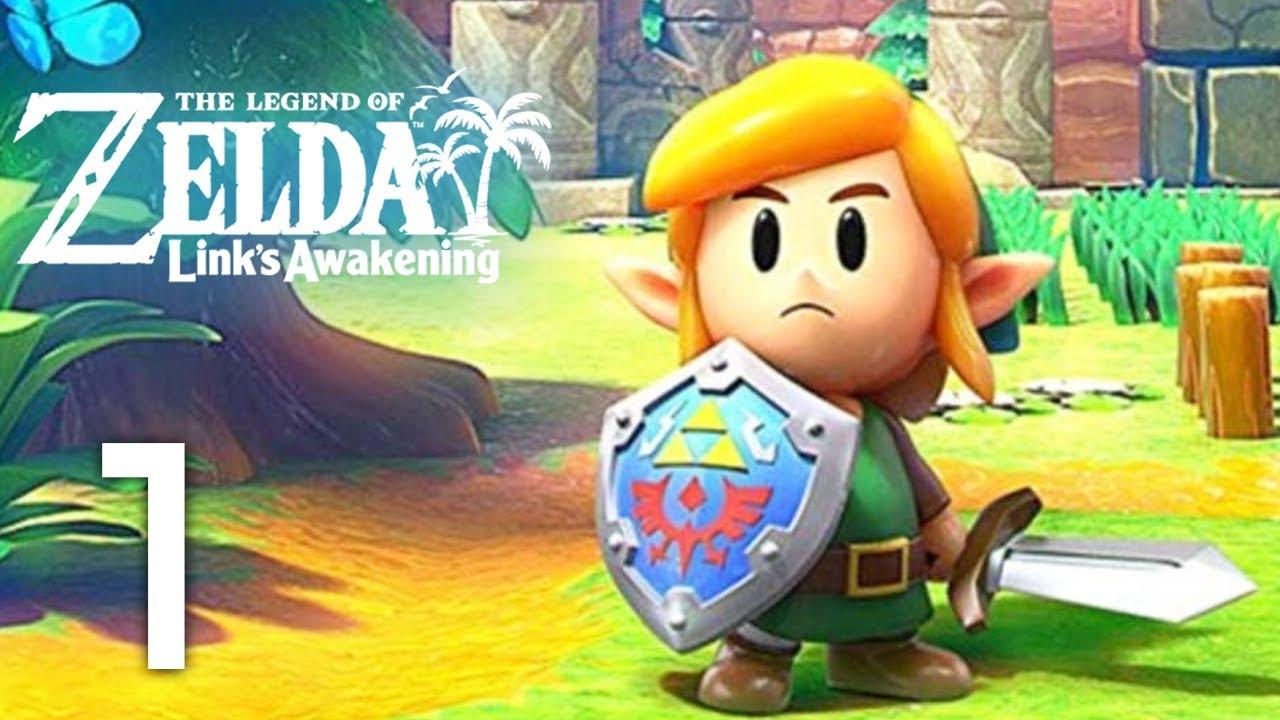 Zelda Link S Awakening Intro Dungeon 1 2 Gameplay Walkthrough Part 1