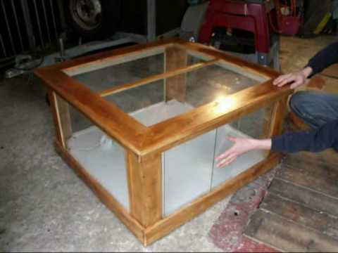 Table terrarium mpg youtube for Coffee table enclosure