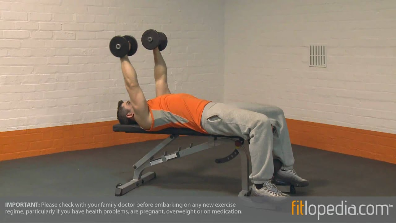 Lying Down Alternate Dumbbell Pullover - YouTube
