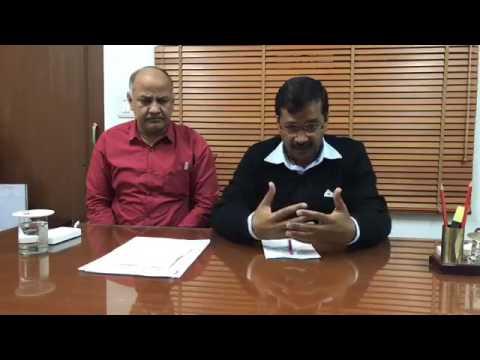 AAP Convenor Arvind Kejriwal interacts with all volunteers
