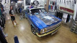 Volga Around Europe - Day 22 - Barcelona - DYD Lowrider Store - Interview