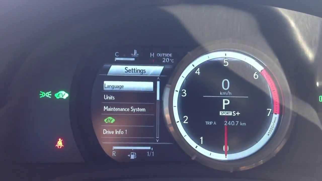 Lexus F Sport >> Lexus IS300h F-Sport LFA Inspired Dash - YouTube