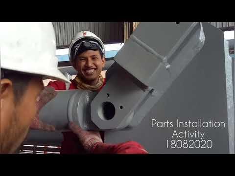 Marine loading arm major overhaul 2020 - Parts installation activity 18.08.2020