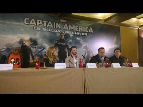 Captain America, le Soldat de l'Hiver - Conférence de presse à Paris