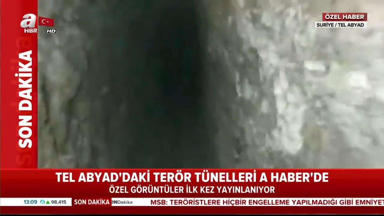 Son Dakika: İşte Tel Abyad'daki Terör Tünellleri... İlk Kez A Haber'de!
