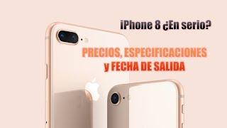 iPhone 8, iPhone 8 PLUS ESPECIFICACIONES,  PRECIO y CUANDO SALE en ESPAÑA