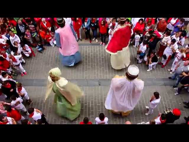 Adiós con el Corazón, Despedida Gigantes Txikis, Fiestas de Sangüesa 2015