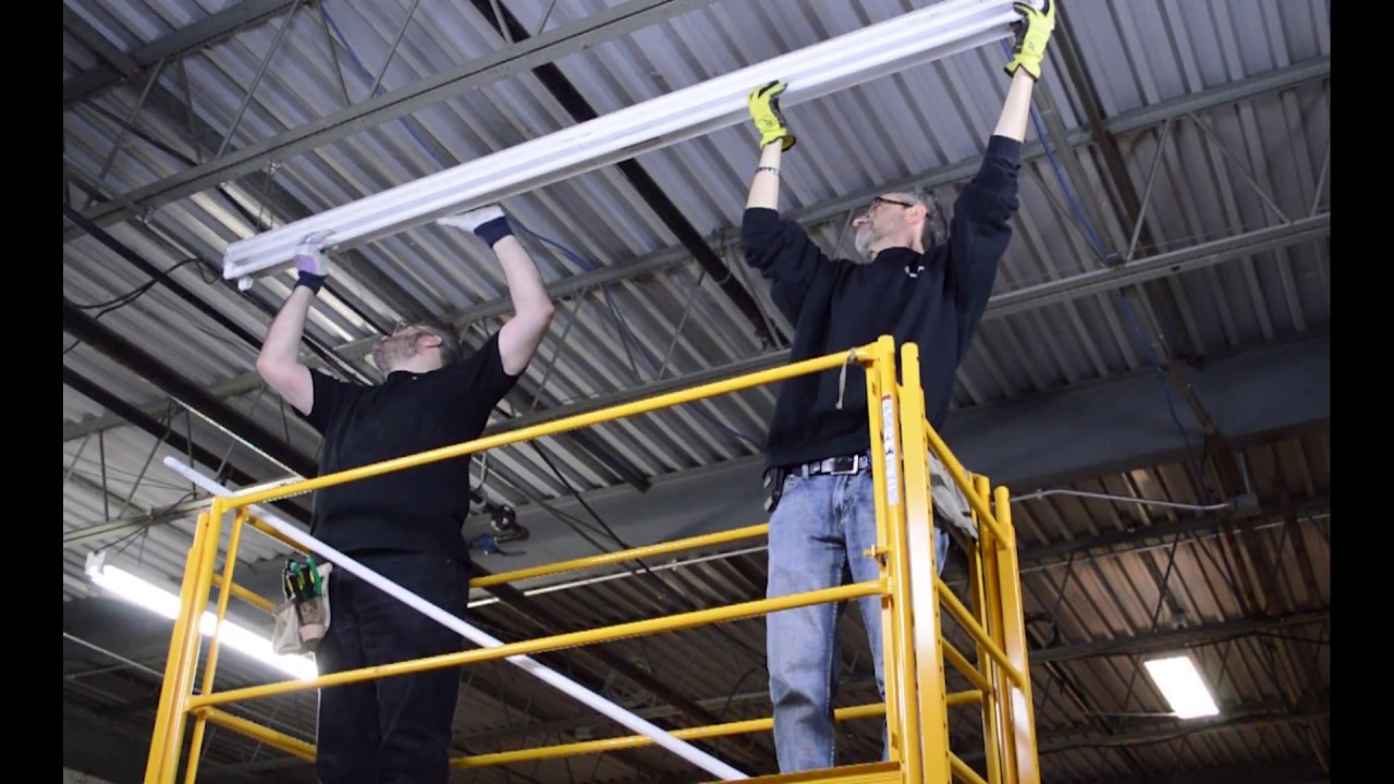 medium resolution of 8 ft t8 led ballast bypass installation overview educational video
