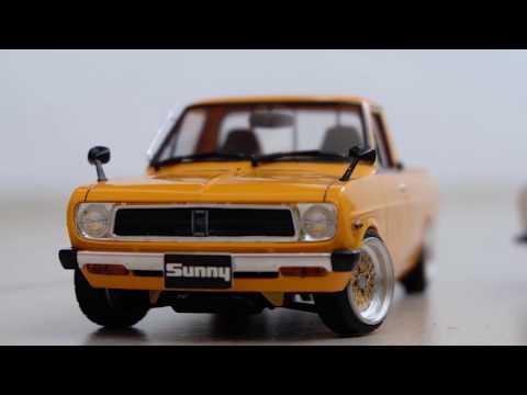 VLOG Review Mokit Hasegawa Datsun / Nissan Sunny Truck Long Body