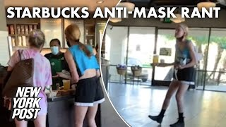 Starbucks barista hailed for keeping calm during wild rant by anti-masker | New York Post