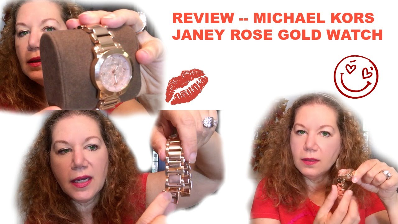 a168c93e5174 Michael Kors MK Janey Rose Gold Watch Review - YouTube