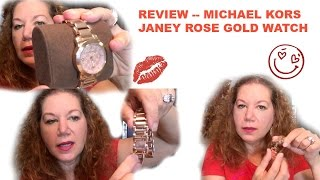 Michael Kors MK Janey Rose Gold Watch Review