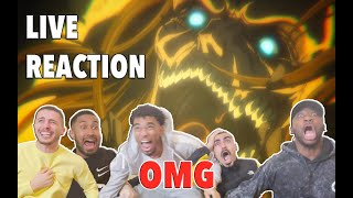 LA GRANDE GUERRE COMMENCE!!! - FEAT TONIO LIFE - SHINGEKI NO KYOJIN S04 EP05  - LIVE REACTION FR
