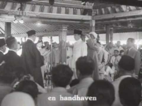 Nieuws uit Indonesië - beëdiging van president Sukarno (1949)