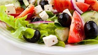 Салат греческий с брынзой не классический видео рецепт