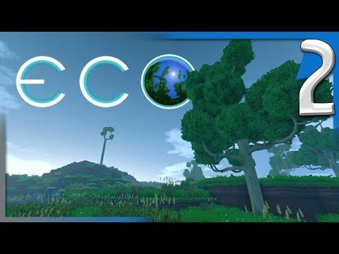 ECO ALPHA 6.1 - BUILDING A HOUSE! | ECO Multiplayer Gameplay E2