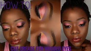 Download Video HOW TO : CUT CREASE EYE SHADOW FOR HOODED EYES | Jhosfine MP3 3GP MP4