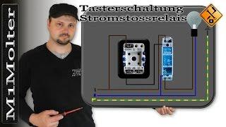 Tasterschaltung Stromstossrelais anschließen Anleitung von M1Molter