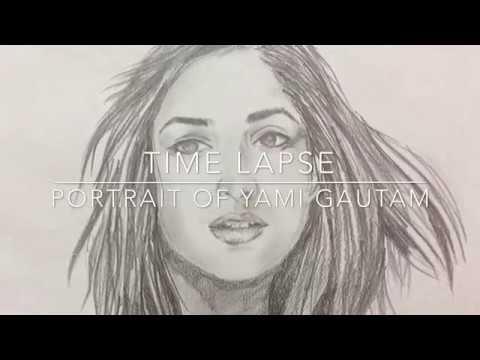 Yami gautam sketch time lapse