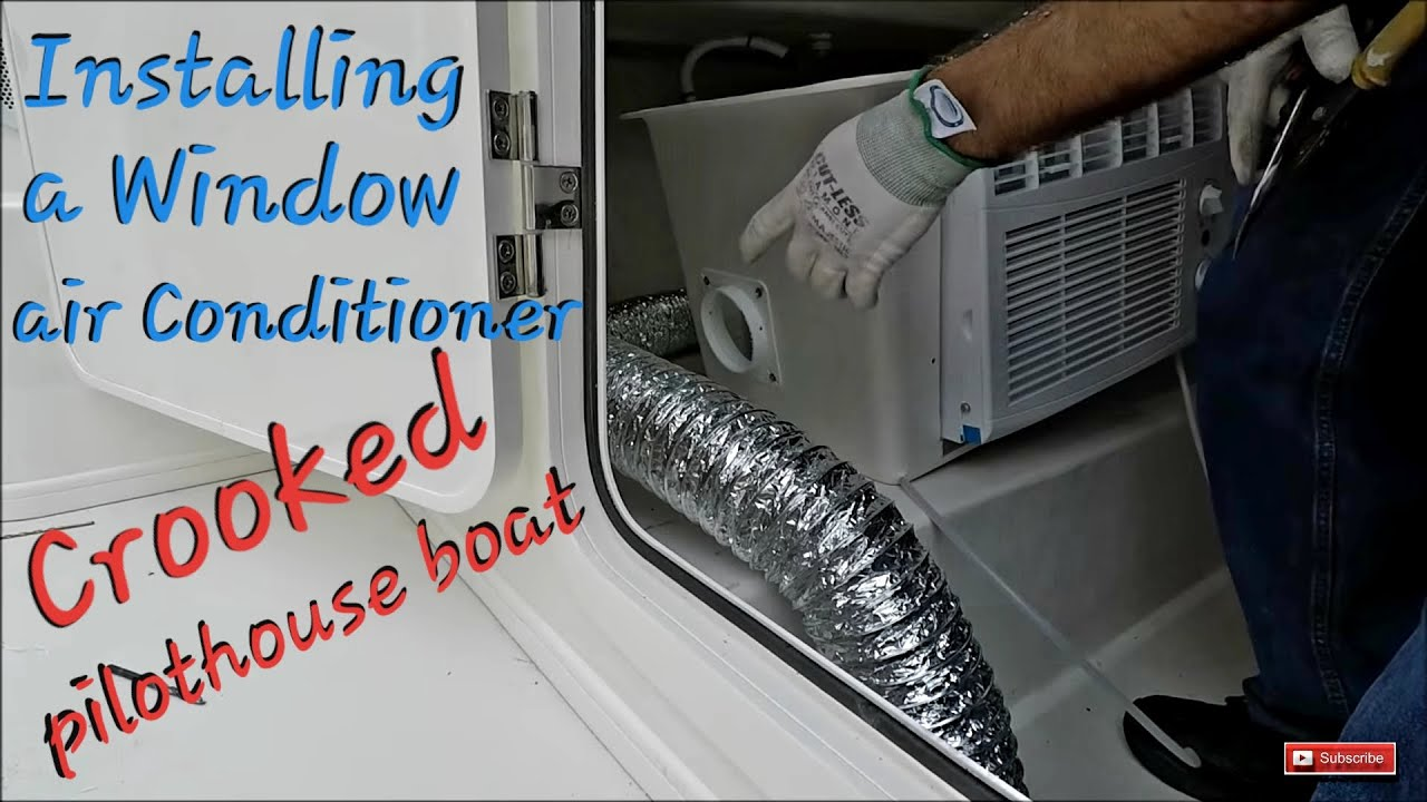 Air Conditioner Fan >> Installing a Window Air Conditioner on a Crooked ...