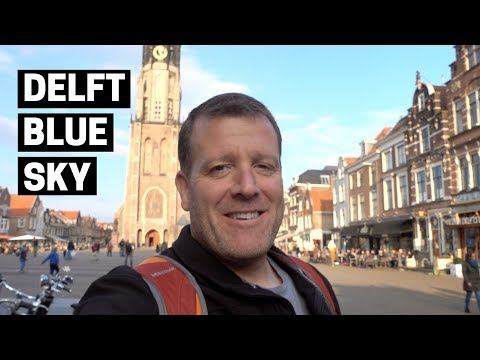 Delft Walking Tour on a beautiful day - Netherlands Vlog