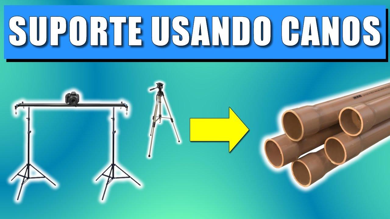 SUPORTE PARA CELULAR/CÂMERA COM CANOS DE PVC!