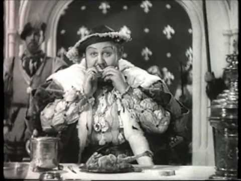 Charles Laughton as King Henry VIII  Chicken Eating