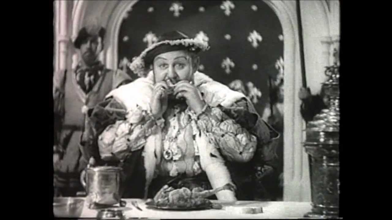 Charles Laughton as King Henry VIII - Chicken Eating Scene - YouTube