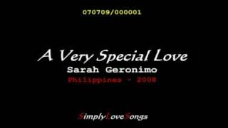 A Very Special Love - Sarah Geronimo