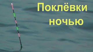 Ночная ловля канального сомика на поплавочную удочку с поплавком- светлячком, Рыбалка