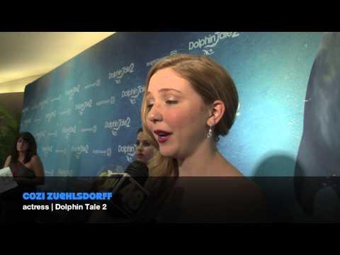 Dolphin Tale 2 Blue Carpet: Cozi Zuehlsdorff Interview with Wzra Tv