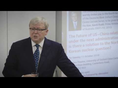 Kevin Rudd on the future of US-China relations