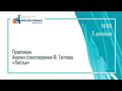 Практикум. Анализ стихотворения Ф. Тютчева «Листья»