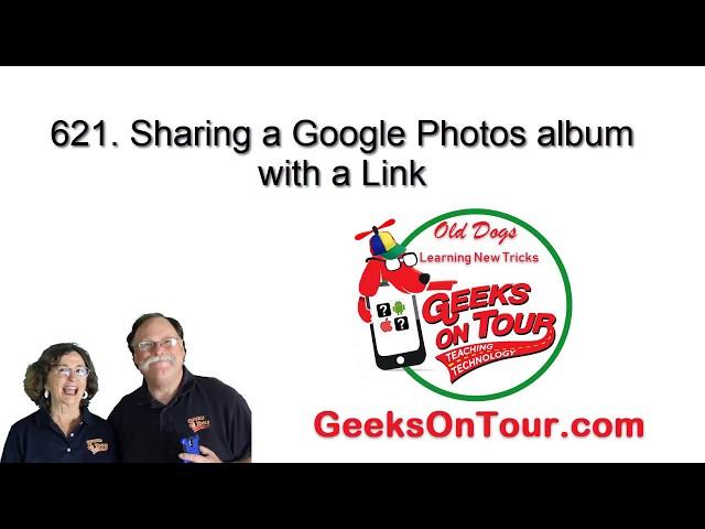 Share a Google Photos Album Link - Tutorial Video 621
