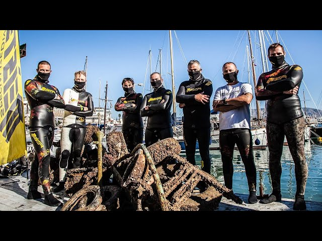 INSANE DAY Clean Up of a Polluted Port|Spearfishing Life 🇬🇷