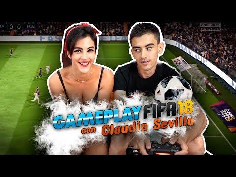 STRIP Gameplay FIFA 18 con Claudia Sevilla: Un gol, una prenda (CON FINAL FELIZ)