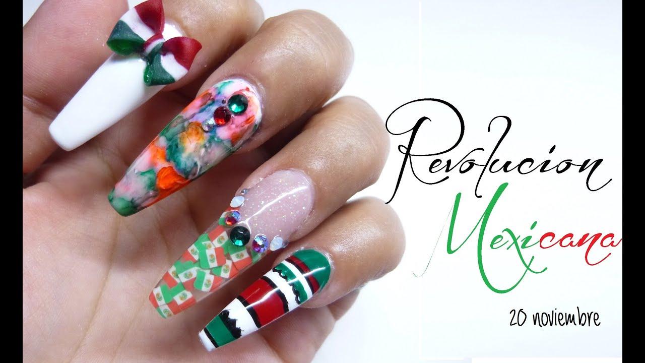 Diseño de uñas ((REVOLUCION MEXICANA)) - YouTube