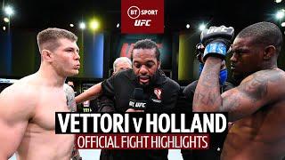 Marvin Vettori v Kevin Holland | Italian Dream wants Adesanya rematch! | UFC Highlights