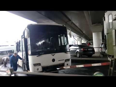 Москва котельники сгорел автобус