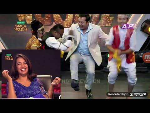 dilip rayamajhi funny dance  and funny speech on the stage of boogie woogie eposide 7