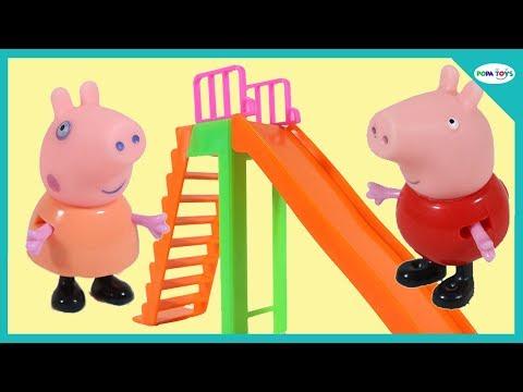 Peppa Pig English Episodes - Peppa at School Playground