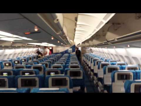 Inside Air Mauritius Airbus A340 - 300C, 3B-NBD (Parakeet)