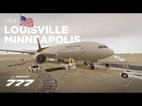 Prepar3Dv4 - Boeing 777 / Louisville → Minneapolis