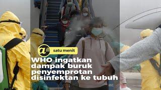 Ini dampak buruk penyemprotan disinfektan ke tubuh manusia