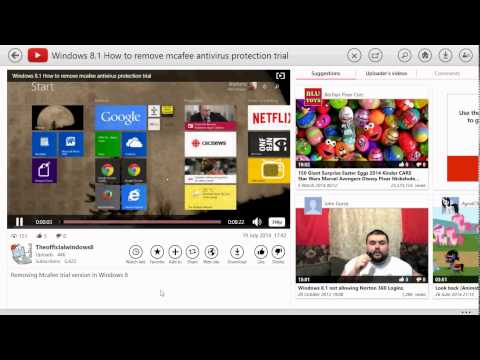 Windows 8.1 New youtube for windows 8 app look and review