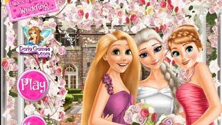 NEW мультик онлайн для девочек—Свадьба Эльзы и подружки невесты—Игры для детей